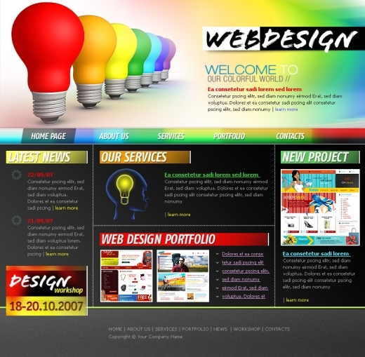 Screenshot | Website Template Designing | Services of Vyom ...